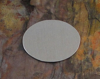 """5 Deburred 18G Aluminum 1 3/8"""" inch X 1 1/16"""" 36mm x 28mm OVAL Stamping Blanks"""