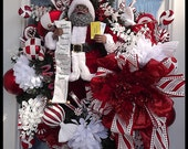 Adorable African American Santa Christmas Wreath for the Holiday Season