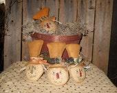 Primitive Handmade Scarecrow Ornies/bowl fillers