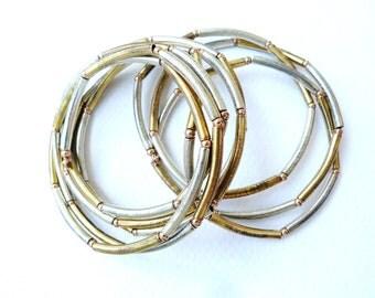 vintage 80s bracelet gold silver rose gold tones