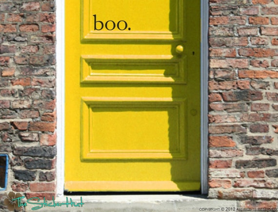 boo. Halloween Front Door Vinyl Wall Art Graphic Stickers Decals 1391