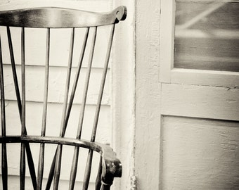Chair photography monochrome photograph still life sepia print - fine art photography, black and white photograph - 8x10