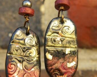 Artifact polymer clay earrings