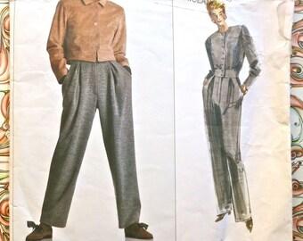 Vintage 1980s Geoffrey Beene Jumpsuit Pattern with Jacket - Vogue 2182