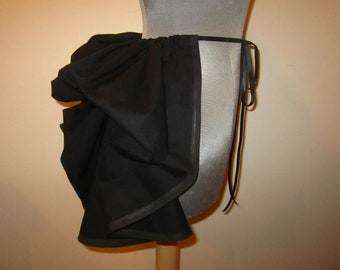 Add a Bustle Skirt by LoriAnn Costume Designs - Black - READY to MAIL