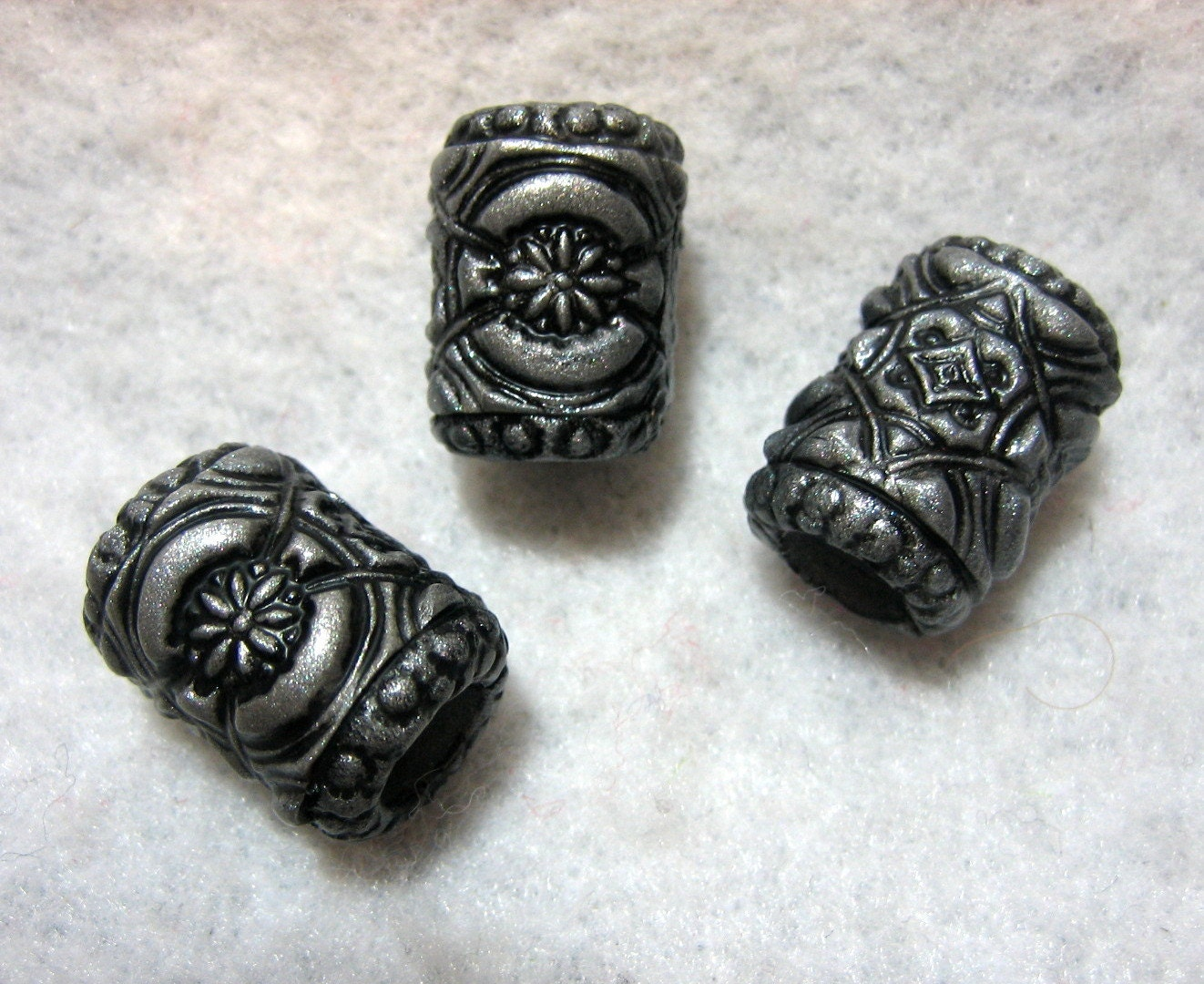 Dreadlock Beads Dread Beads Silver Met...