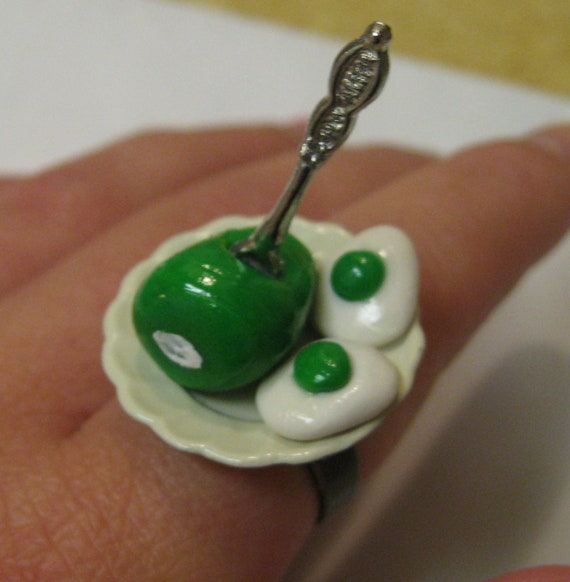 Green Eggs And Ham Ring, Dr Suess, Nickel Free