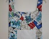 Reusable Fabric Grocery/Shopping Bag    TEXAS/Blue Bonnet Material