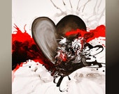11x14 Abstract Art Print - Contemporary Modern Fine Art  by Destiny Womack  - dWo - With Every Heart Beat