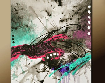 Abstract Canvas Art Painting 18x24 Contemporary Modern Original Wall Artwork by Destiny Womack - dWo - Capture  The Moment