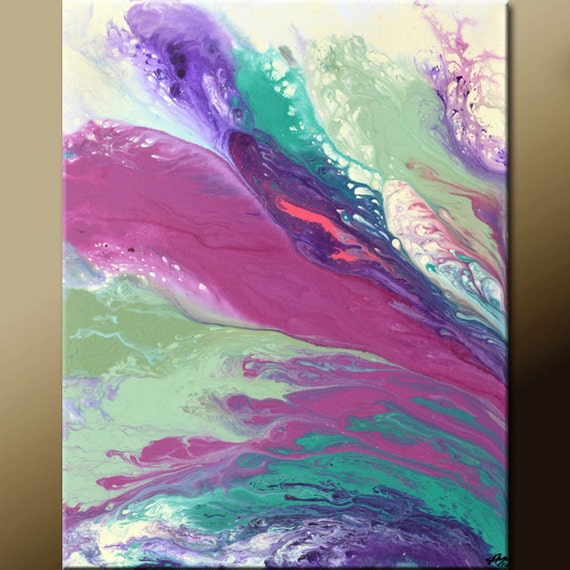 Abstract Art Painting 16x20 Contemporary Modern Original Wall Art  by Destiny Womack - dWo - In The Breeze