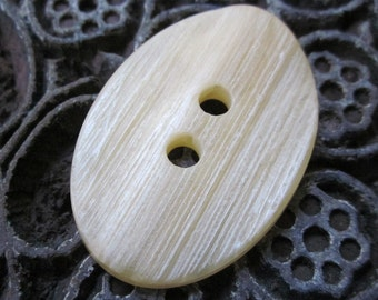 Large Ivory Textured Oval Button