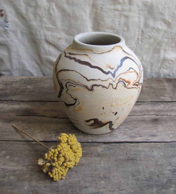 vintage  c. 1970s clay vase // Nemadji Indian Pottery Minnesota