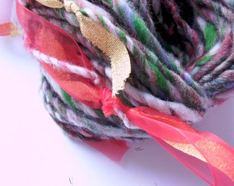 JINGLE BELLS  - artistic handspun yarn