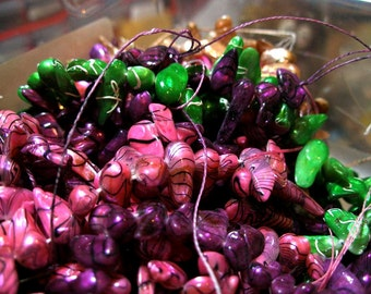 Stick pearls, jagged, about 1/4 to 1/2 inch, wild colors, 3 strands   TeamESST, etsyBead, OlympiaEtsyArtists, WWWG
