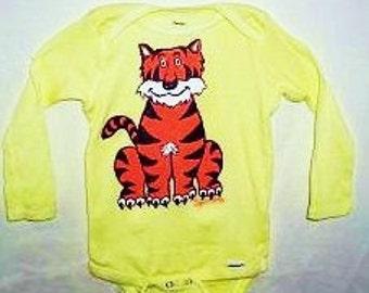 Tiger Baby Bodysuit, Longsleeved Baby Bodysuit With Tiger, Baby Clothes, Tiger Bodysuit For Baby