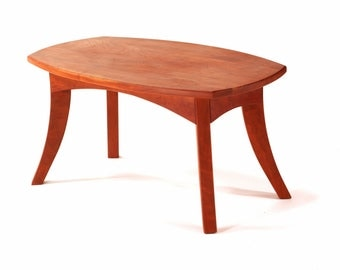 Fluidity Coffee table solid cherry wood Solid Wood Handmade Organic Finish Contemporary modern design