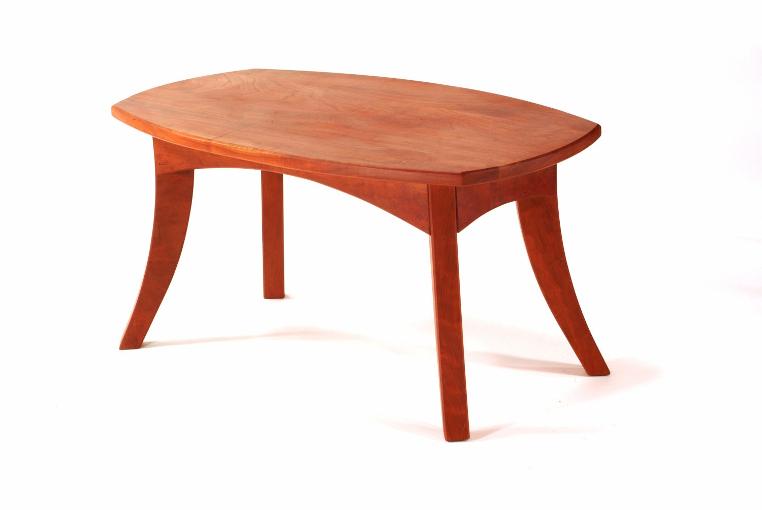 Fluidity Coffee Table Solid Cherry Wood Solid Wood Handmade
