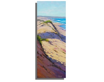 LARGE VERTICAL beach PAINTING ocean dunes by gercken