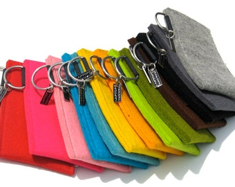 iPhone sleeve in thick felt, 100% wool, handmade in the Netherlands