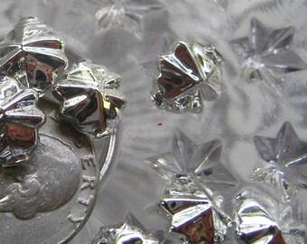 10 Glass Garland Beads Silver Christmas Garland Beads Czech Republic  054 S