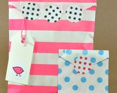 "Polka Dot Petite Stickys (128) 1"" Stickers with so many uses - Choose from 5 different colors"