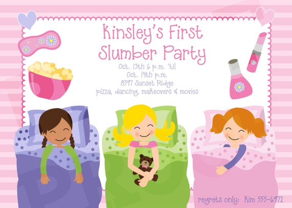 Sleepover Party Invite is awesome invitation layout