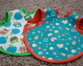 Bella Bamboo Baby Bib - Owls and Butterflies