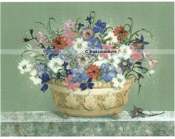 Print of my original Pressed flowers pixture