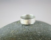"Hammered Ring, Fine Silver 1/4"" Wide, Wide Band, Wide Silver Band, Wide Hammered Ring, Wide Ring, Wide Silver Ring"