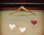 Hearts Photograph Photo - Love, past, present, future, vintage - Hearts on a String - 8 x 10 Fine Art Print