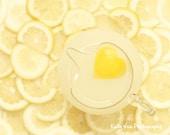 Lemonade Photograph Photo -  Heart, summer, yellow, lemons, kitchen decor, yummy, summertime  - Lemon Love - 8 x 10 Fine Art Print