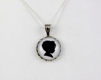 Custom Silhouette Jewelry - silhouette from pictures
