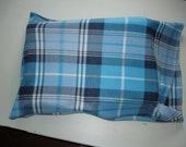 Fleece Blue Plaid standard pillowcase