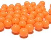 8mm Smooth Round Acrylic Beads in Light Tangerine 50 beads