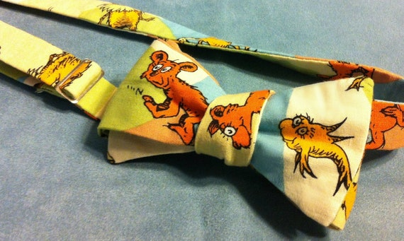 Dr Seuss Lorax Inspired Adjustable Bow Tie