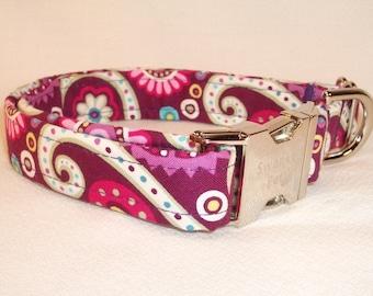 Retro Purple Print Collar by Swanky Pet