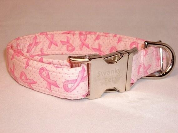 Pink Ribbon Dog Collar by Swanky Pet
