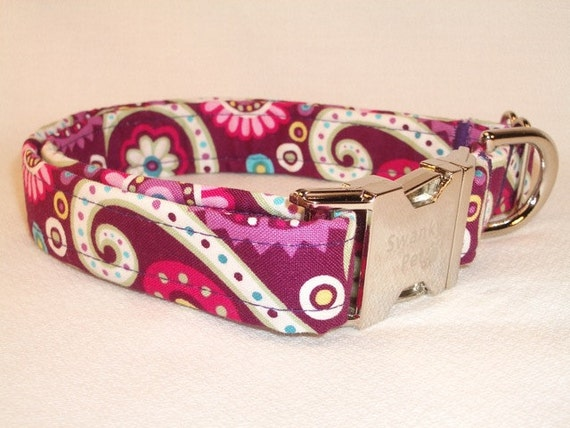 Retro Purple Print Collar by Swanky Pet