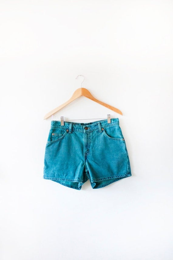 Teal Levi's High Waist Denim Shorts- 31 Inch Waist