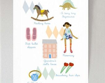 Things I Like - girl's print