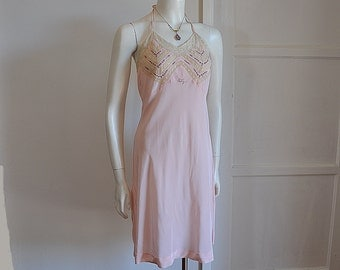 30s nightgown / Stunning Vintage 1930's Lace Intricate Embroidered Nightgown Slip Patsy