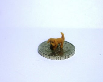 144th scale dolls house miniature tiny standing puppy dog figure