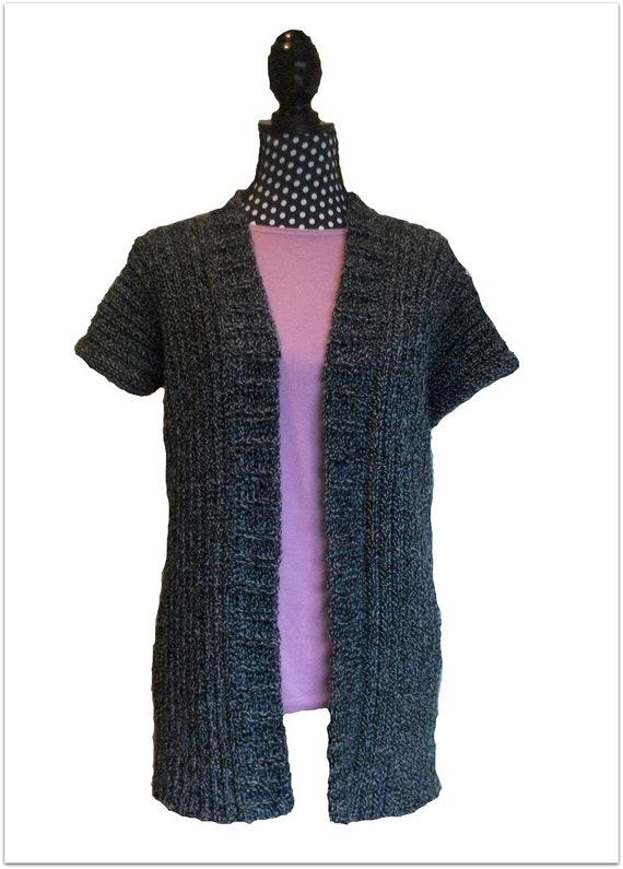 Download Now - CROCHET PATTERN Classic Ribbed Cardigan - Ladies Sizes X S to X X L - Pattern PDF
