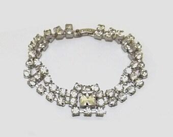 1950s vintage bracelet / 50s vintage bracelet / rhinestone / Princess Bracelet