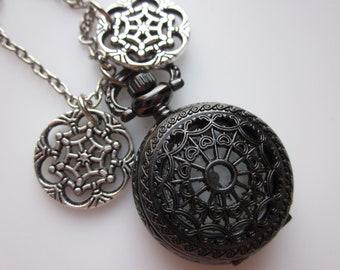 Dream Catcher Pocket Watch Necklace.