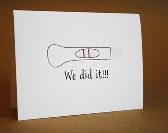 Congratulations Card - Pregnancy, funny, couples, love, new baby, newborn, surprise him