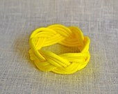 Neon Yellow Nautical Rope Bracelet