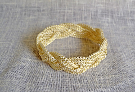 Gold Metallic Nautical Rope Bracelet