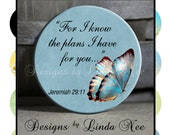 Pinback BUTTON Images 1 inch round 1.313 overall size - CHRISTian Scripture 4 Digital Collage Sheet AMERICAN BUTTON Machine and Tecre